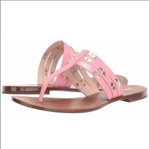 KATE SPADE Carol Stud Embellished Thong Sandal 9.5
